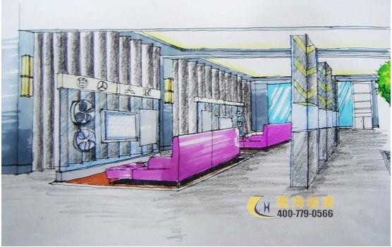 展厅设计手绘图一套